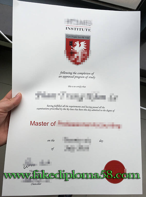 Holmes Institute fake degree certificate