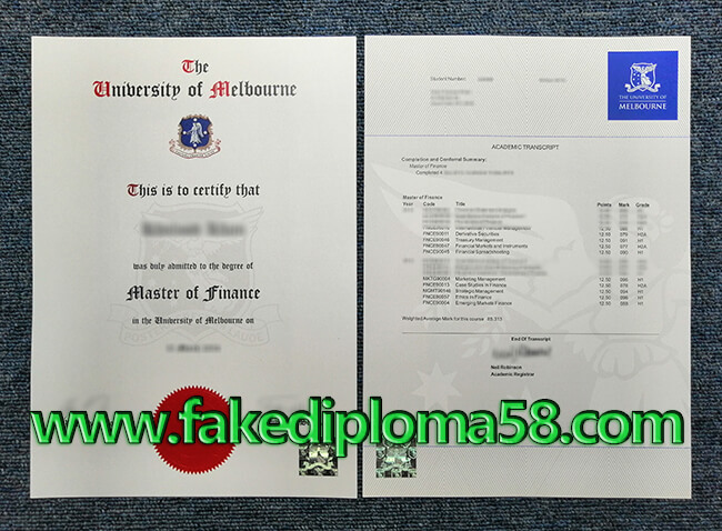 fake University of Melbourne degree