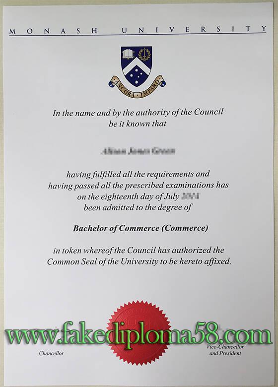 Monash University diploma