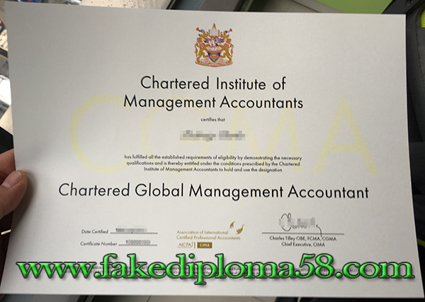CIMA certificate, The Chartered Institute of Management Accountants certificate