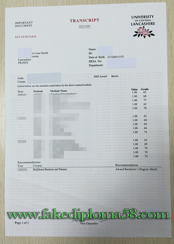 want to buy a fake University of Central Lancashire (UCLan) degree with transcript