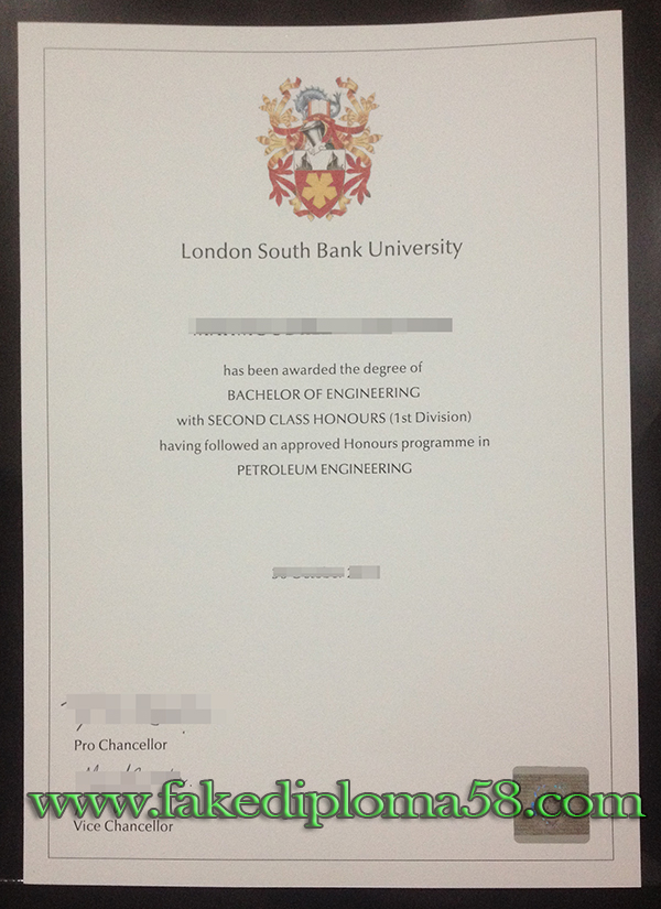 London South Bank University degree