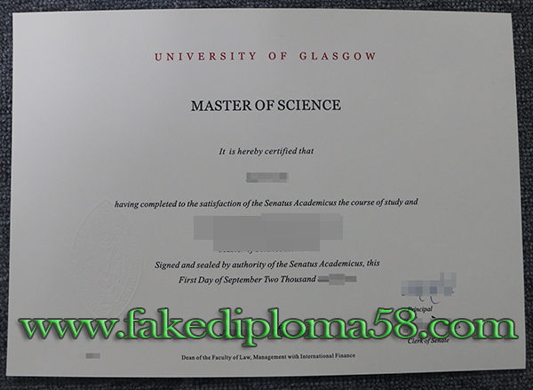 Where can I buy fake University of Glasgow diploma