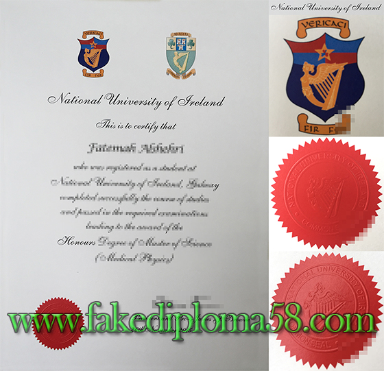 National University of Ireland degree/diploma sample