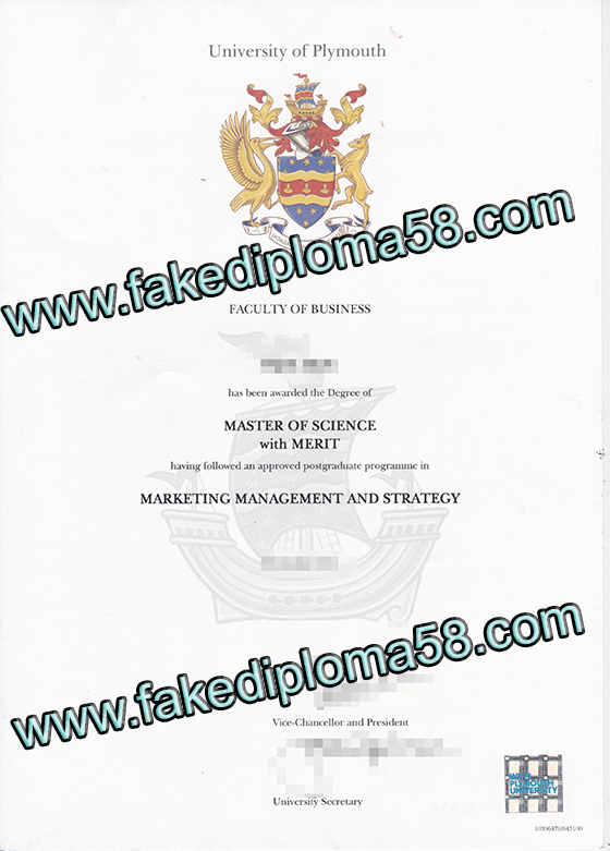 fake degree, Plymouth University diploma sample