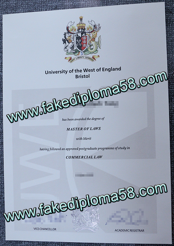 Fake diploma, buy University of the West of England diploma