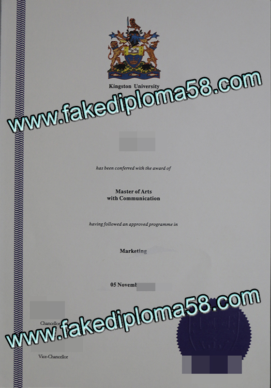 Kingston university diploma sample, buy fake diploma of Kingston university