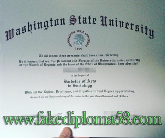 WSU certificate, buy Washington State University degree