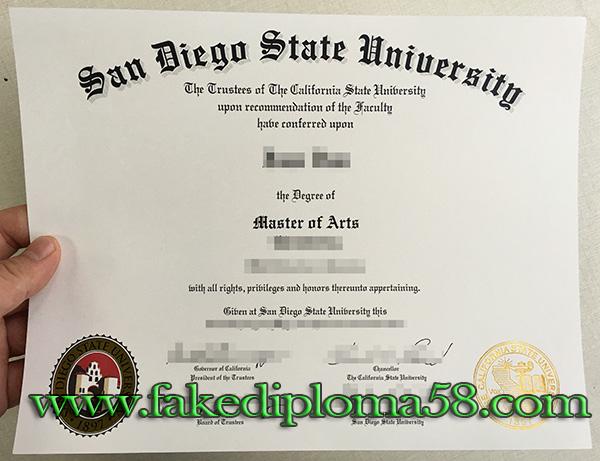 San Diego State University degree, SDSU degree