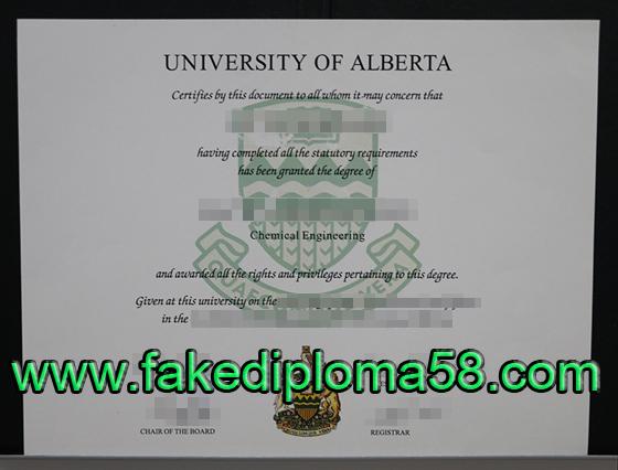The university of Alberta diploma sample
