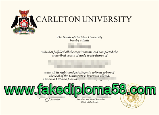 Carleton university diploma sample