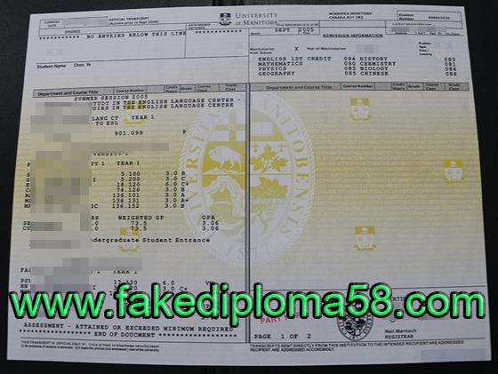 University of Manitoba diploma and transcript sample ,buy fake diploma