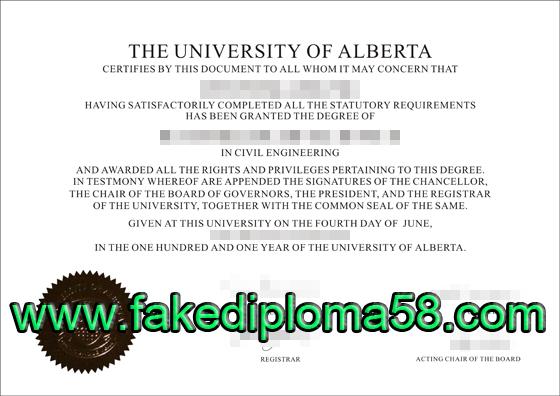 University of Alberta degree, buy fake diploma