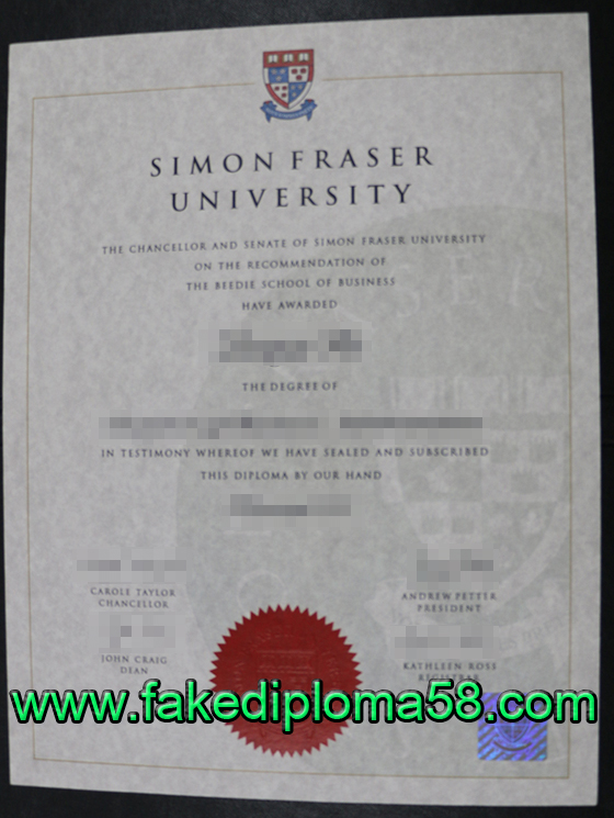 Simon Fraser University diploma, buy a fake degree of SFU