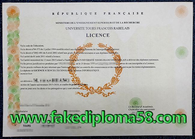Order Fake Tours diploma Online