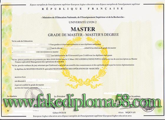 UNIVERSITE LUMIERE-LYON II degree