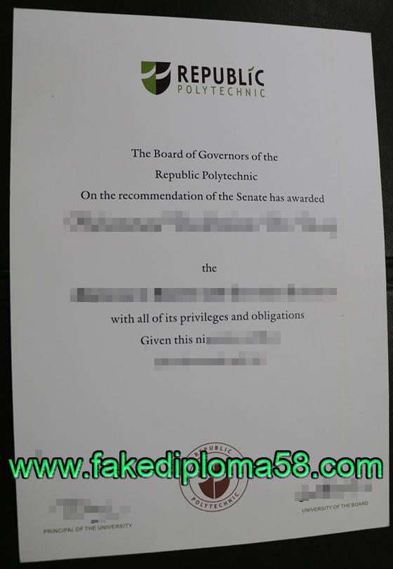 Republic polytechnic degree, buy fake diploma