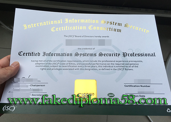 How to buy fake CISSP certificate online