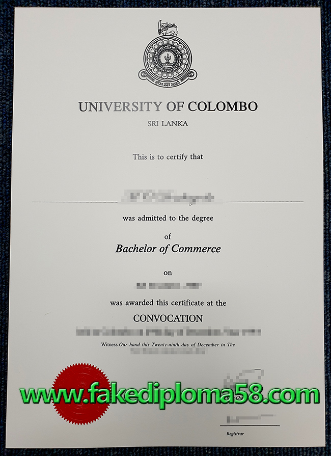 Where to sell the University of Colombo fake diploma