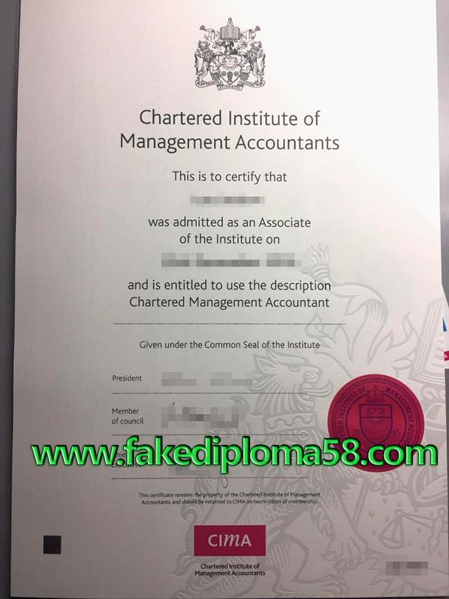 CIMA fake diploma from United Kingdom(UK)