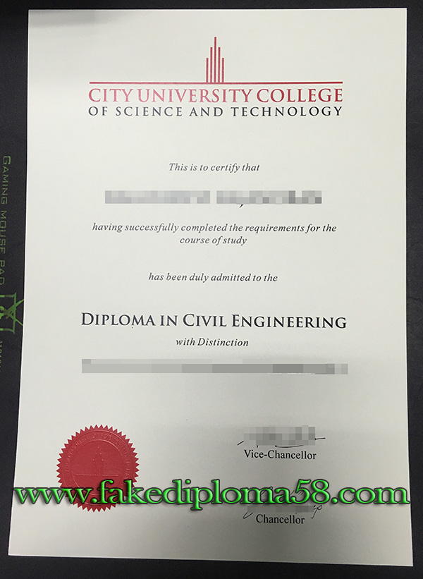 City University College of Science and Technology(CUCST) diploma from Malaysia