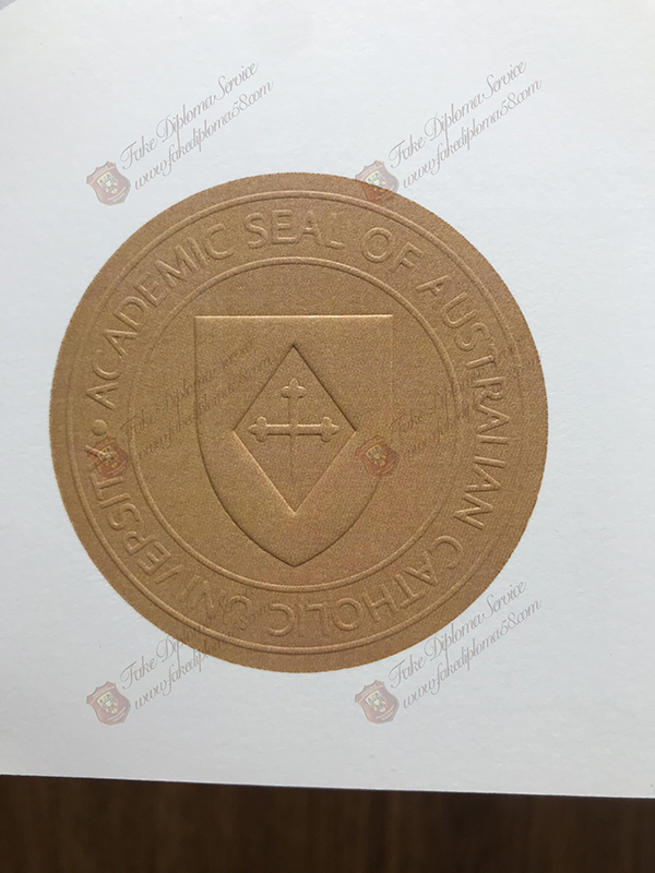 Academic Seal of Australian Catholic University diploma