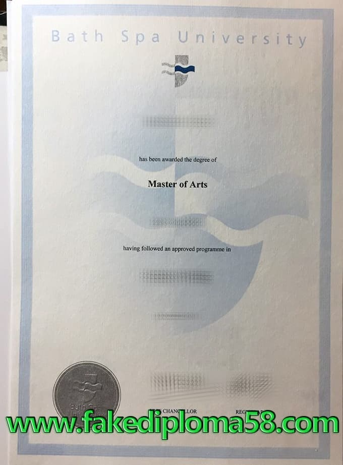 Bath Spa University fake diploma