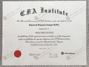 CFA institute Fake certificate