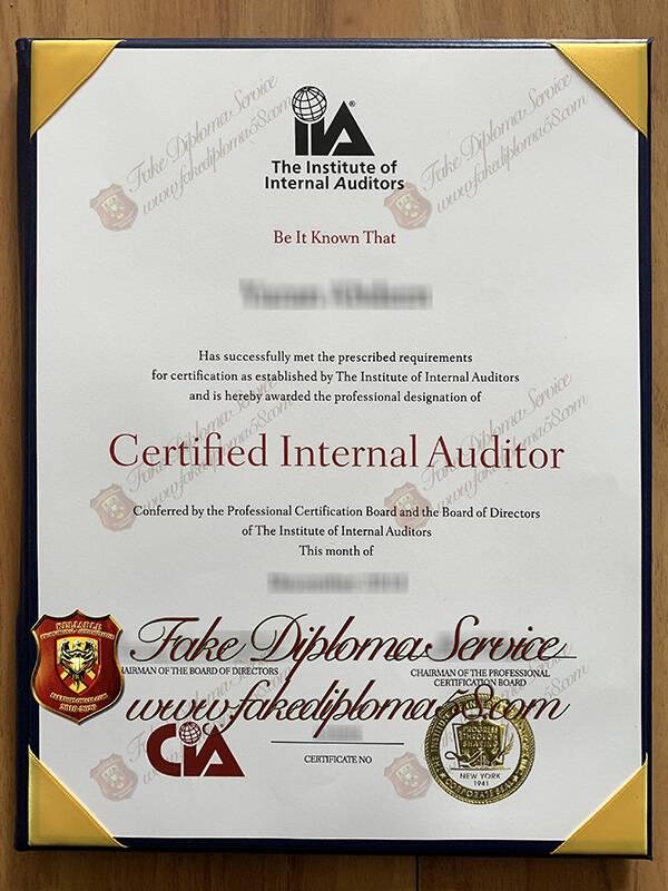 Fake CIA Certificate