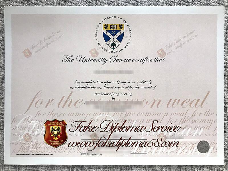 Fake Glasgow Caledonian University Diploma
