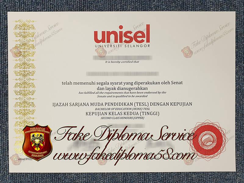 Fake Universiti Selangor Diploma