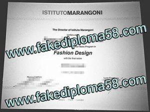 ISTITUTO MARANGONI fake diploma