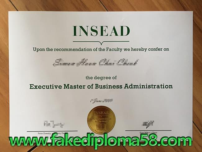 fake Insead diploma