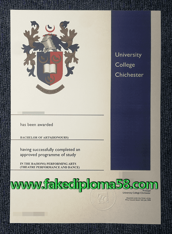 Obtain University College Chichester Diploma