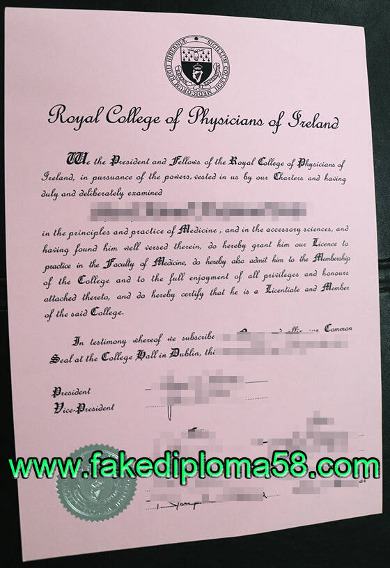 Royal college of physicians of Ireland fake diploma