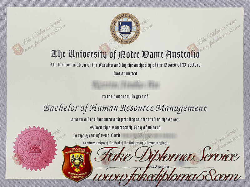 The University of Notre Dame Australia fake diplomas