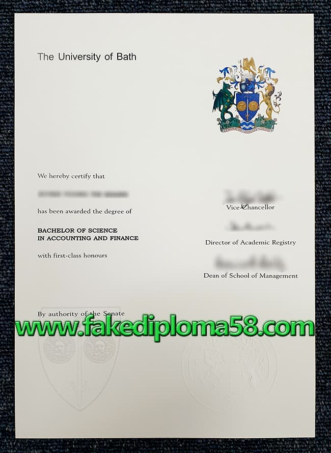 University Of Bath Fake Diploma