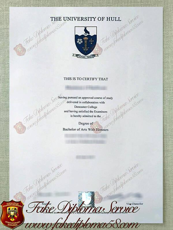 University of Hull Fake diploma