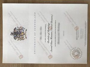 University of Sunderland diploma
