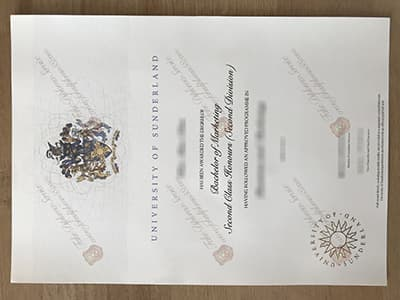 Buy Fake University of Sunderland Diplomas, Same as the original
