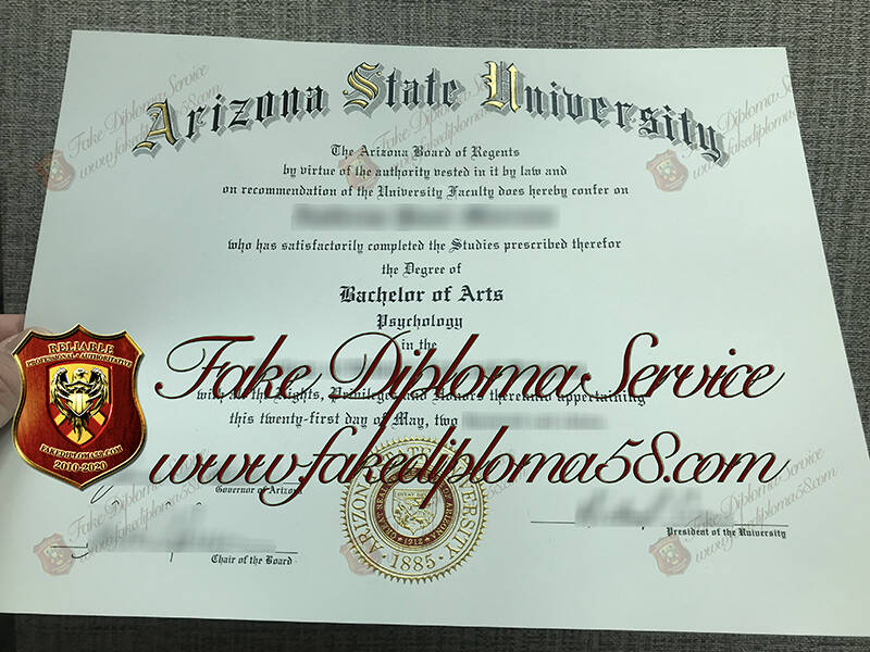 fake Arizona State University diploma