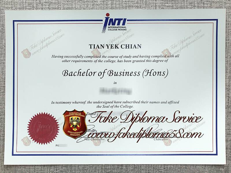 fake International College Penang diploma