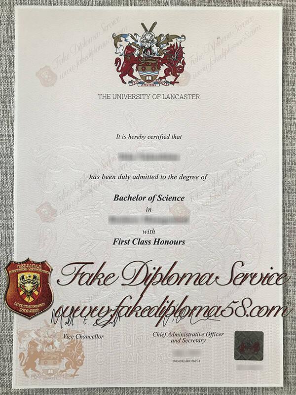 fake Lancaster University diploma