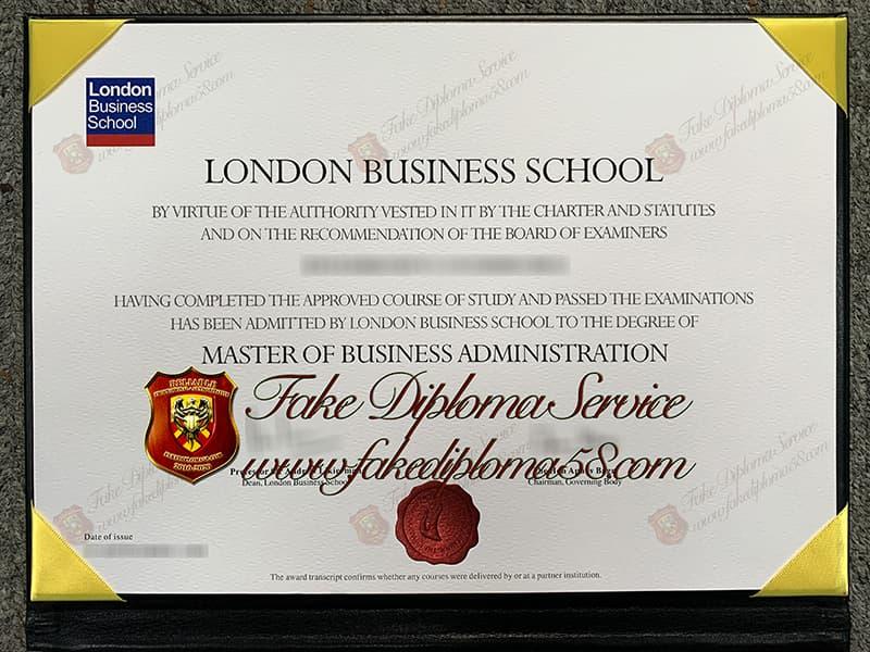 Buy fake London Business School Diploma, LBS degree
