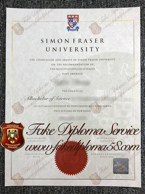 fake Simon Fraser University diploma