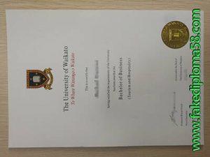 fake Waikato University degree certificate