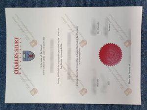 Fake Charles Sturt University Diploma