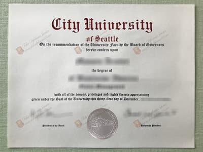 Buy Fake City University of Seattle Diploma, CityU Seattle Fake Degree Certificate