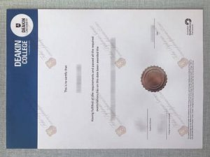 Fake Deakin University Diploma
