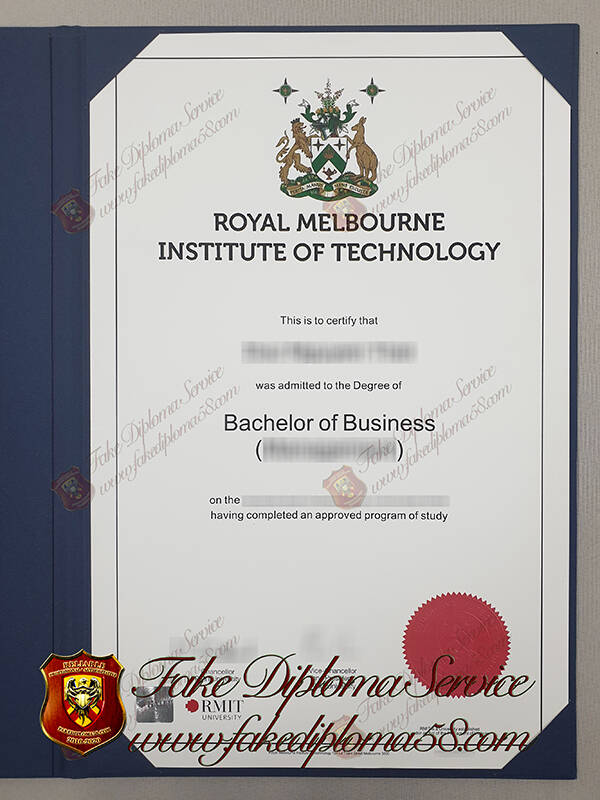 Fake Royal Melbourne Institute of Technology University diploma